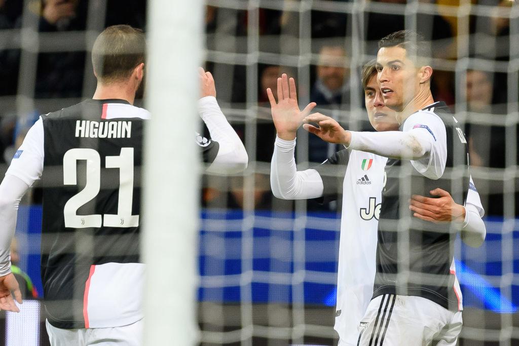 欧冠-尤文2-0客胜勒沃库森 C罗伊瓜因破门迪巴拉两助攻