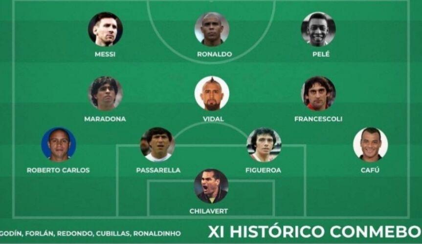 外媒评南美历史最佳阵容 巴西成大赢家 梅西外现役一人引争议