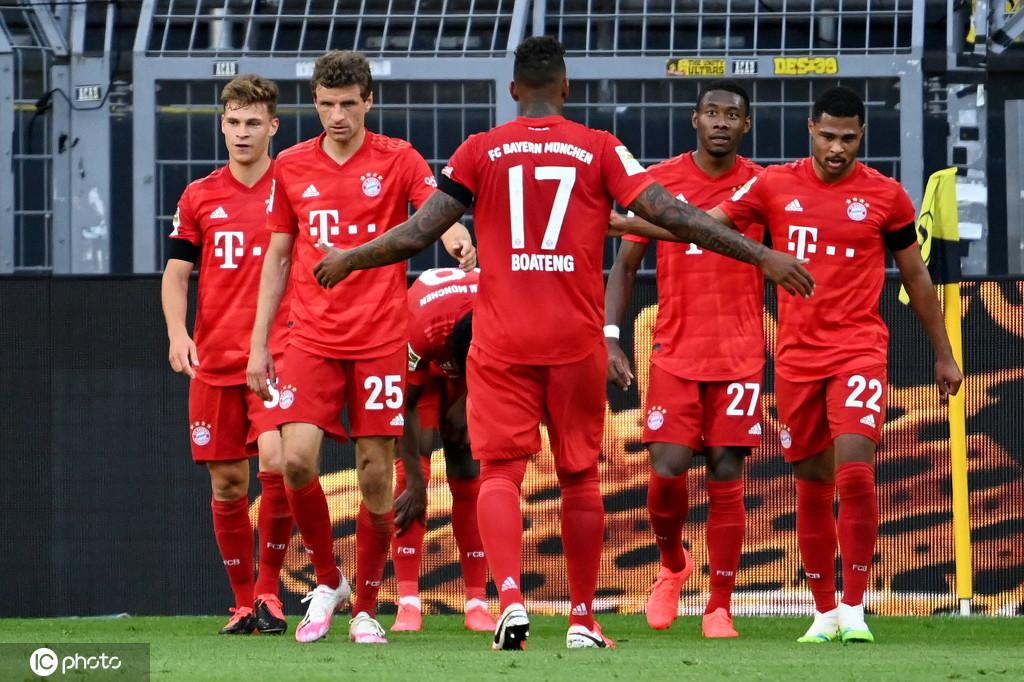 德甲-拜仁1-0客胜多特 基米希神仙球吊射破门哈兰德伤退