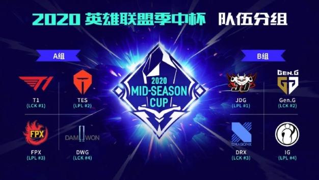 季中杯赛队伍数据对比:FPX最均衡 IG体现极端主义!