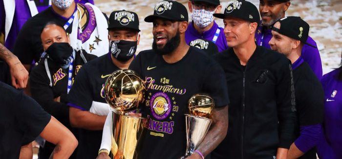 湖人总冠军!詹皇三双湖人大胜热火夺得本赛季NBA总冠军!